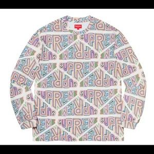 Supreme Perspective Long Sleeve Top White Colorful